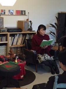 金井美稚子 「モミの木」朗読